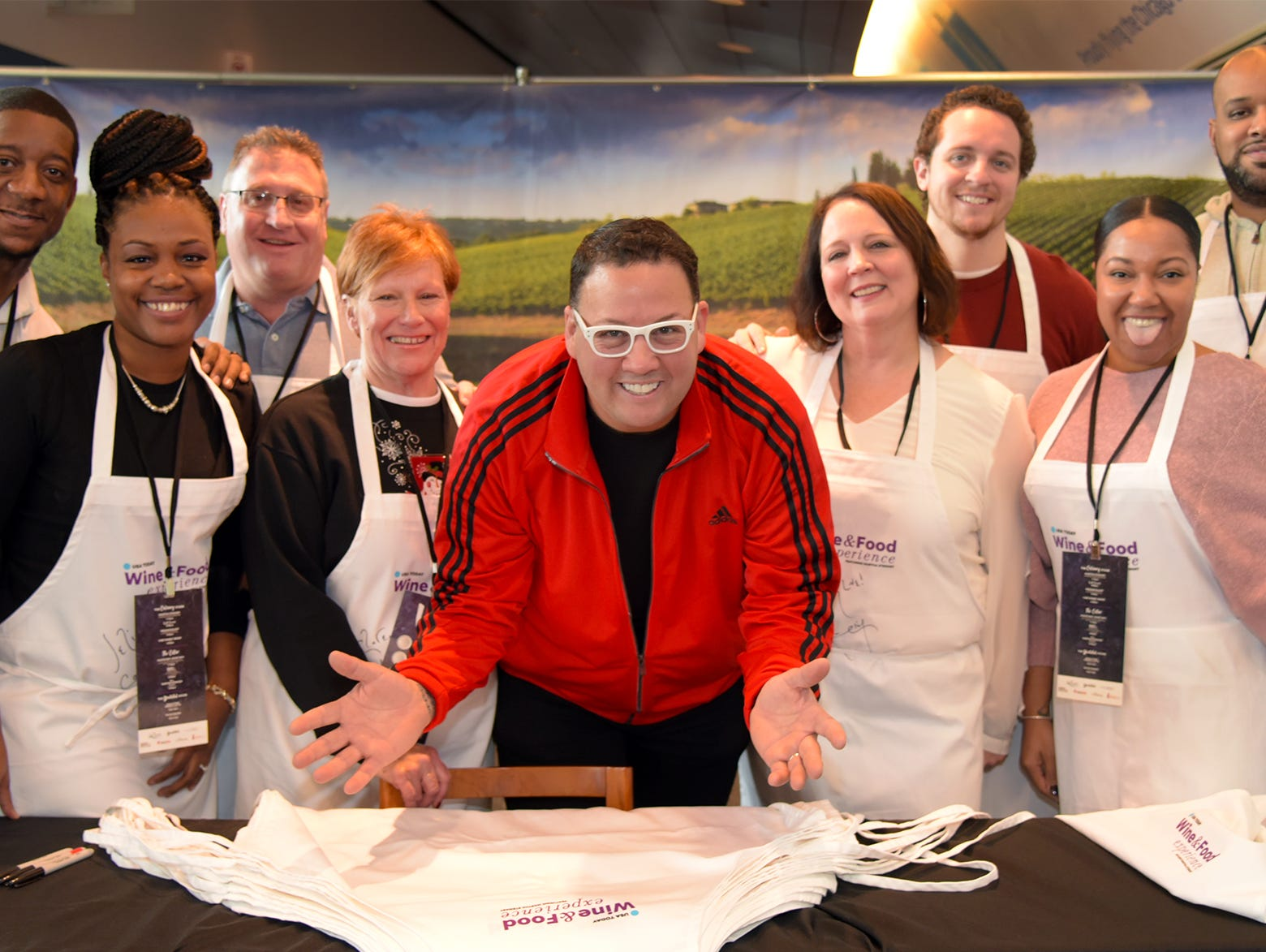 Graham Elliot, TV personality and chef, in his hometown city.