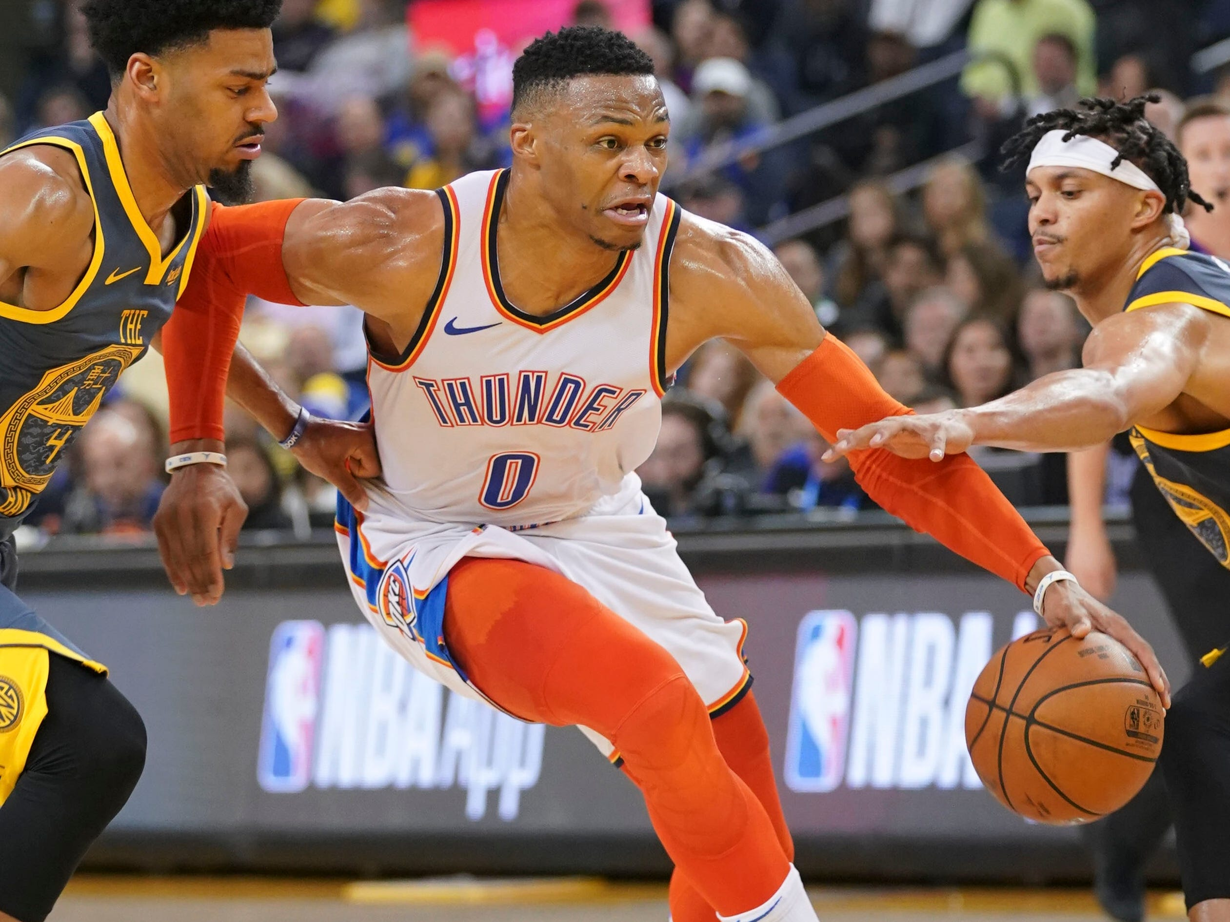 14. Russell Westbrook, Thunder (Nov. 21): 11 points, 13 assists, 11 rebounds in 123-95 win over Warriors.