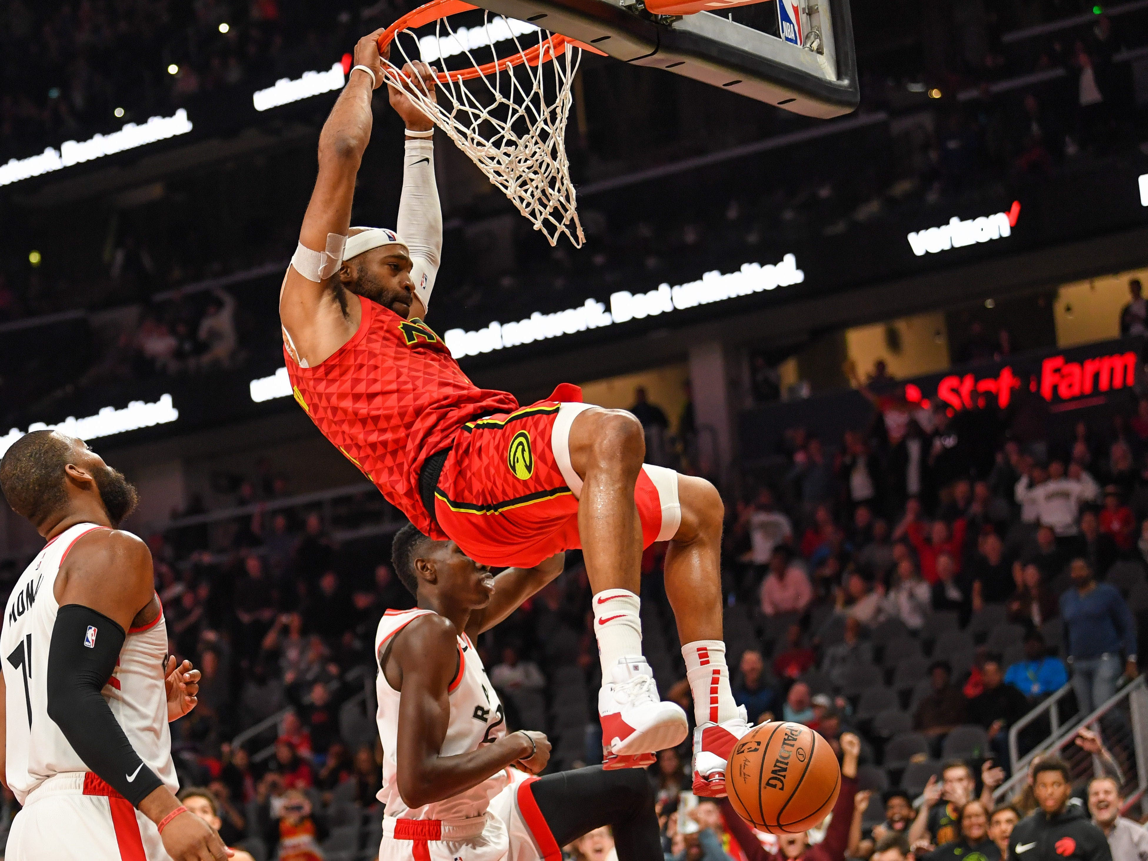 Nov. 21: Hawks forward Vince Carter scores his 25,000th career point on a dunk.