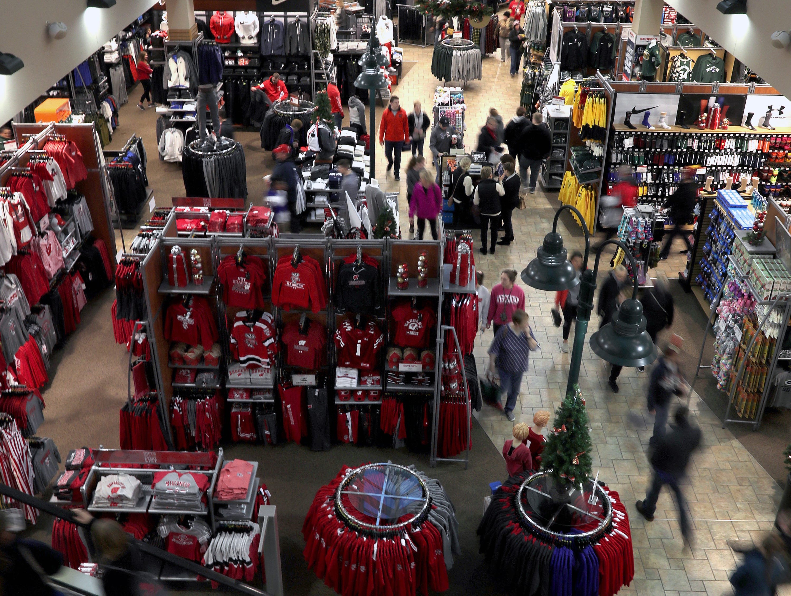 Shoppers looking for Black Friday deals at Scheels on Friday, Nov. 23, 2018 in Grand Chute, Wis