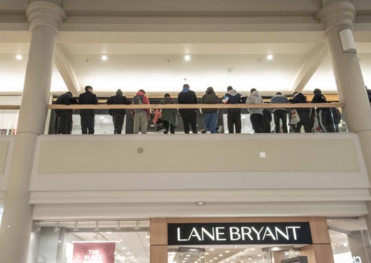 11/23/18- Black Friday starts at 6am at The Freehold Raceway Mall. Customers wait outside for Sole Culture sneaker store to open. Photo/James J. Connolly/Correspondent