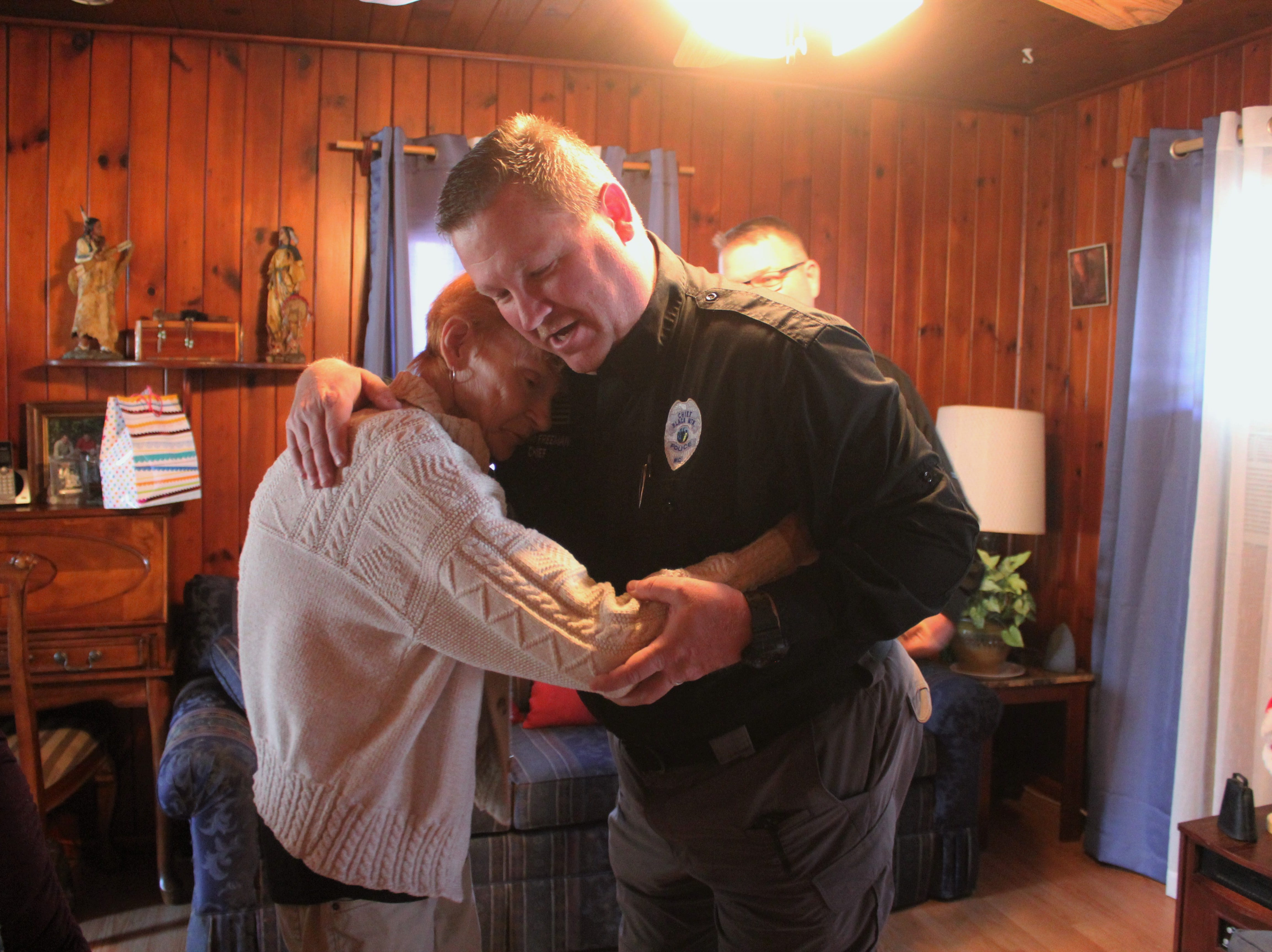 Black Mountain police light up the holidays for local residents