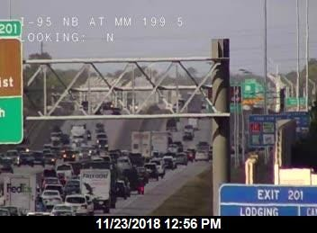 Crash blocks northbound lanes of Interstate 95 Friday afternoon.