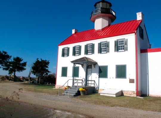 The East Point Lighthouse in Maurice River Township.