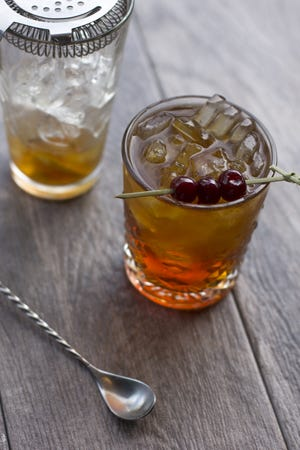 A Manhattan, a classic drink made with bitters.