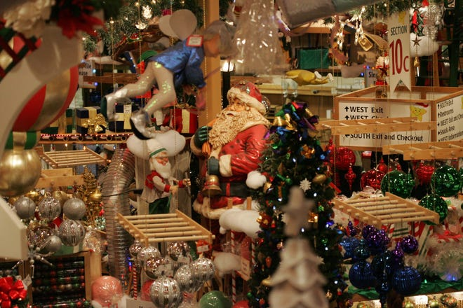 Bronner's Christmas store in Frankenmuth covers nearly two football fields.