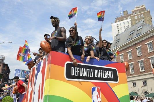NBA pride parade reggie bullock