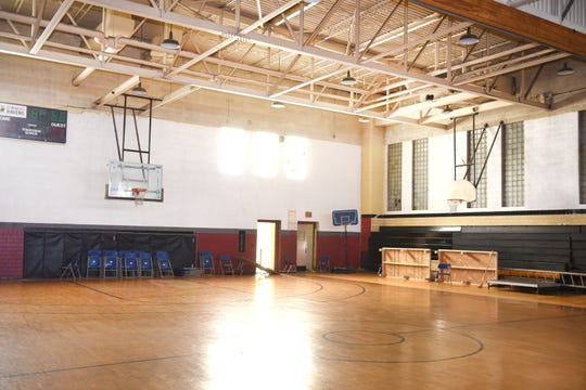 The St.  Benedict gymnasium in Highland Park needs  new flooring and updates to the electrical and heating systems.
