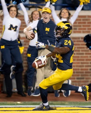 Michigan defensive back Lavert Hill has allowed only nine receptions in 10 games.