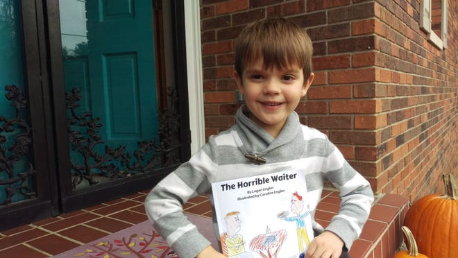 Evansville student Logan Engler, 5, publishes his first book.