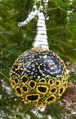 Ornaments made by local artists will be on display at Plum Bottom Pottery & Gallery on Saturday.