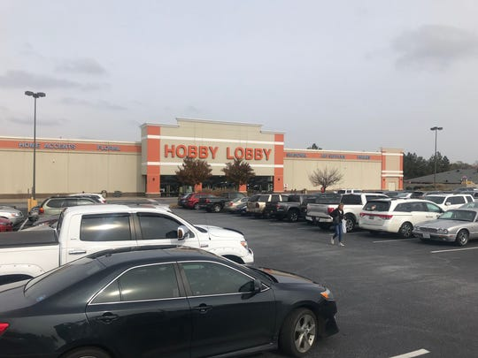 Hobby Lobby near Woodruff and Feaster roads on Black Friday.