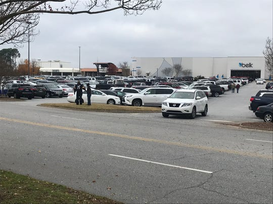 Black Friday parking spaces are getting harder to find at the Haywood Mall.