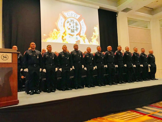 Guam Fire Department graduated 45 new firefighters to join the department on Friday, Nov. 23, 2018 at the Sheraton Laguna Guam Resort.