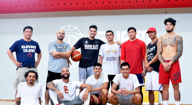Guam's men's national basketball team is ready for the 2018 FIBA Asia Cup Qualifier in Thailand, happening Nov. 26-Dec. 1. Pictured standing, from left: manager Danny Payumo, head coach E.J. Calvo, Willie Stinnett, Billy Belger, Earvin Jose, assistant coach Jin Han and Daren Hechanova. Seated, from left: J.P Cruz, Curtis Washington, A.J. Carlos and Chris Conner. Not shown: brothers Mekeli, Tai and Russell Wesley; and Earnest Ross.