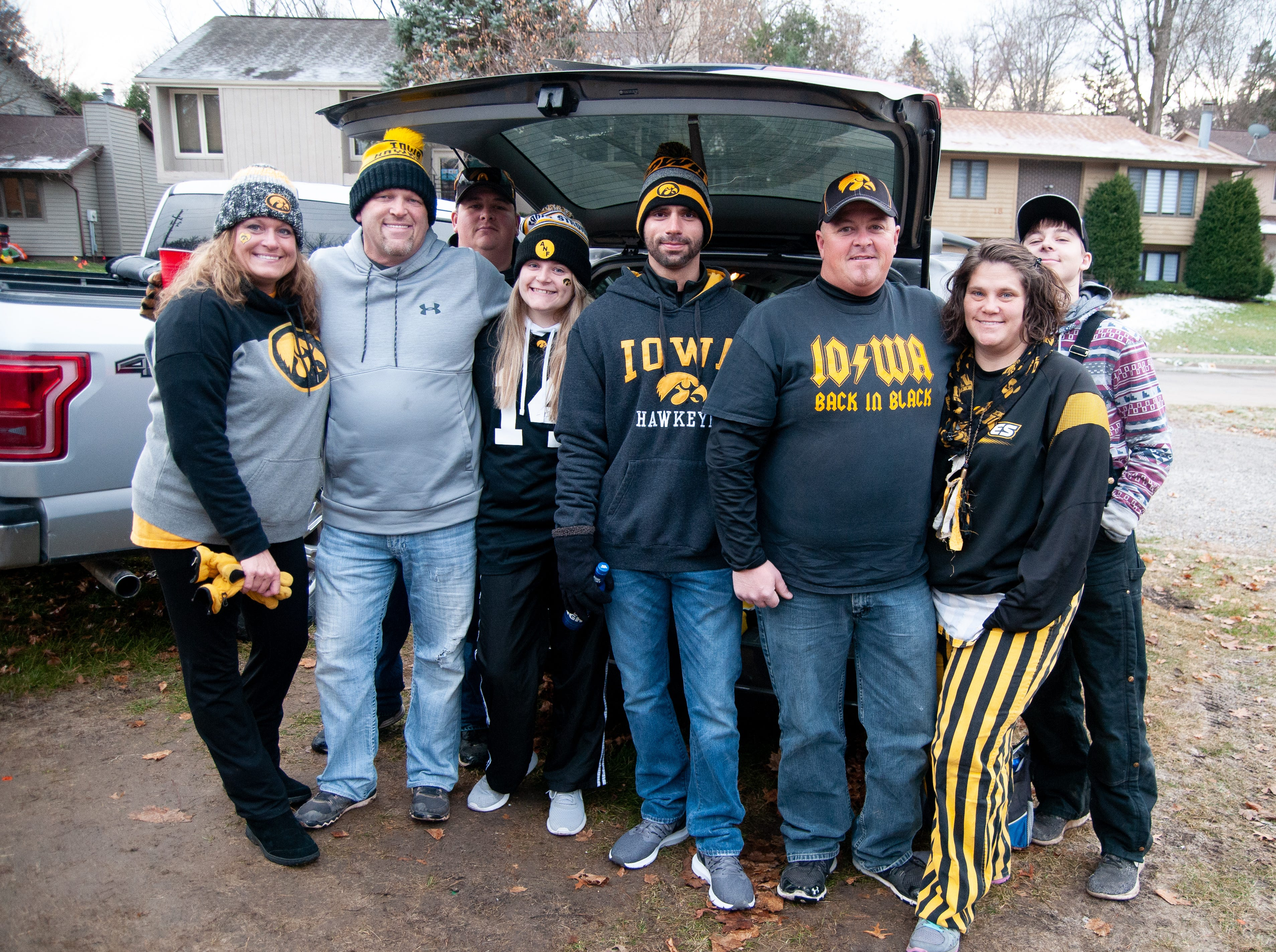 The Melrose and George Tailgate, of Marshalltown, Friday, Nov. 23, 2018, while tailgating before the Iowa game against Nebraska in Iowa City.