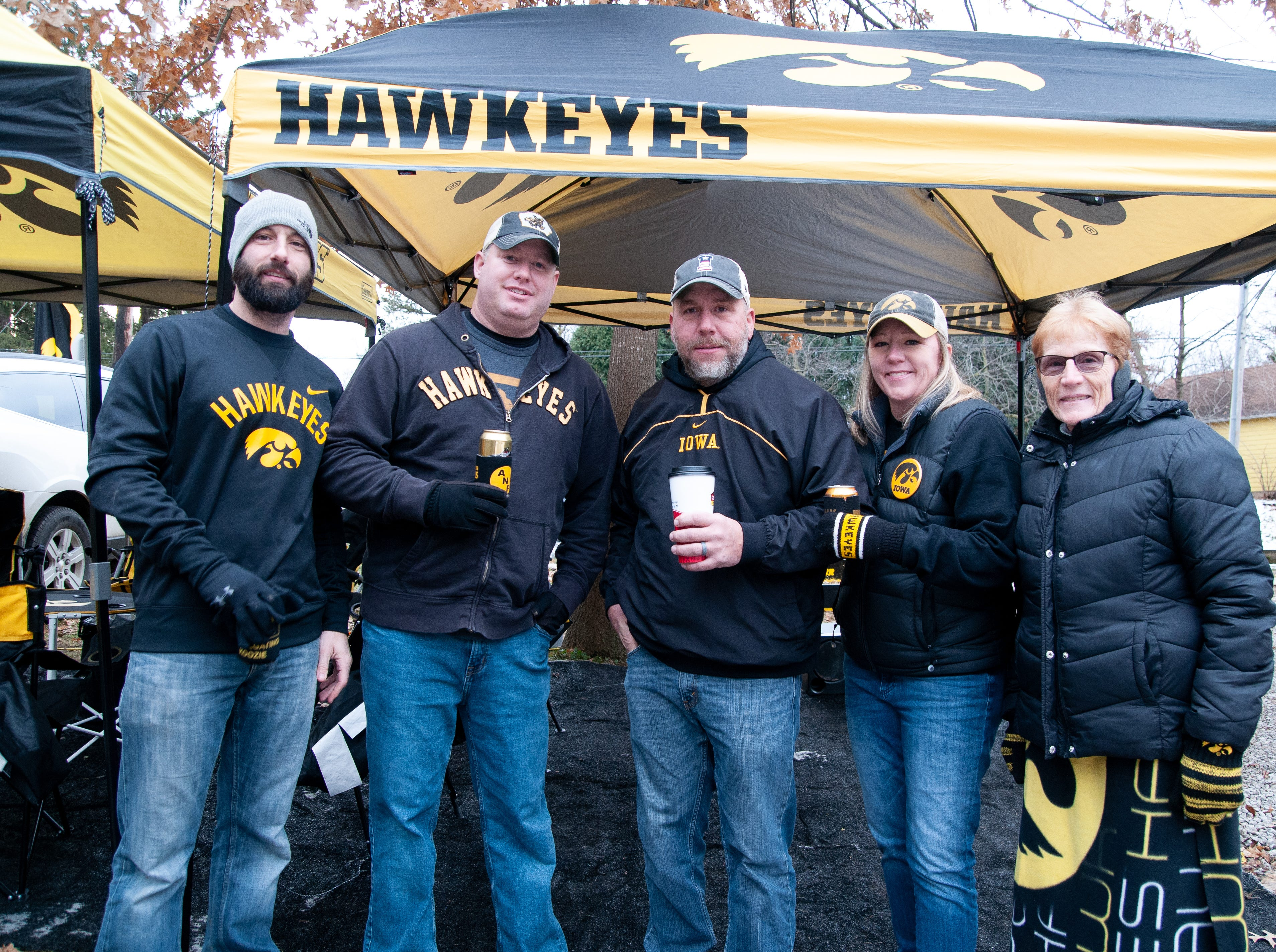 The 1122 Melrose Tailgate, of Boone, Grinnell and Des Moines, Friday, Nov. 23, 2018, while tailgating before the Iowa game against Nebraska in Iowa City.