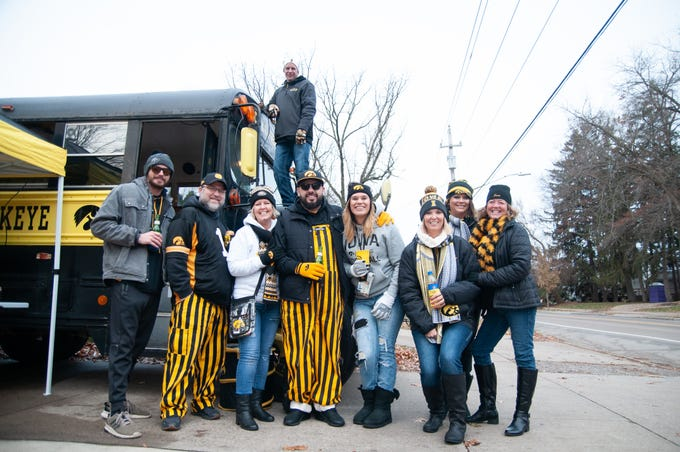 The C & K Express Tailgate of Cedar Rapids on Friday, Nov. 23, 2018, while tailgating before the Iowa game against Nebraska in Iowa City.