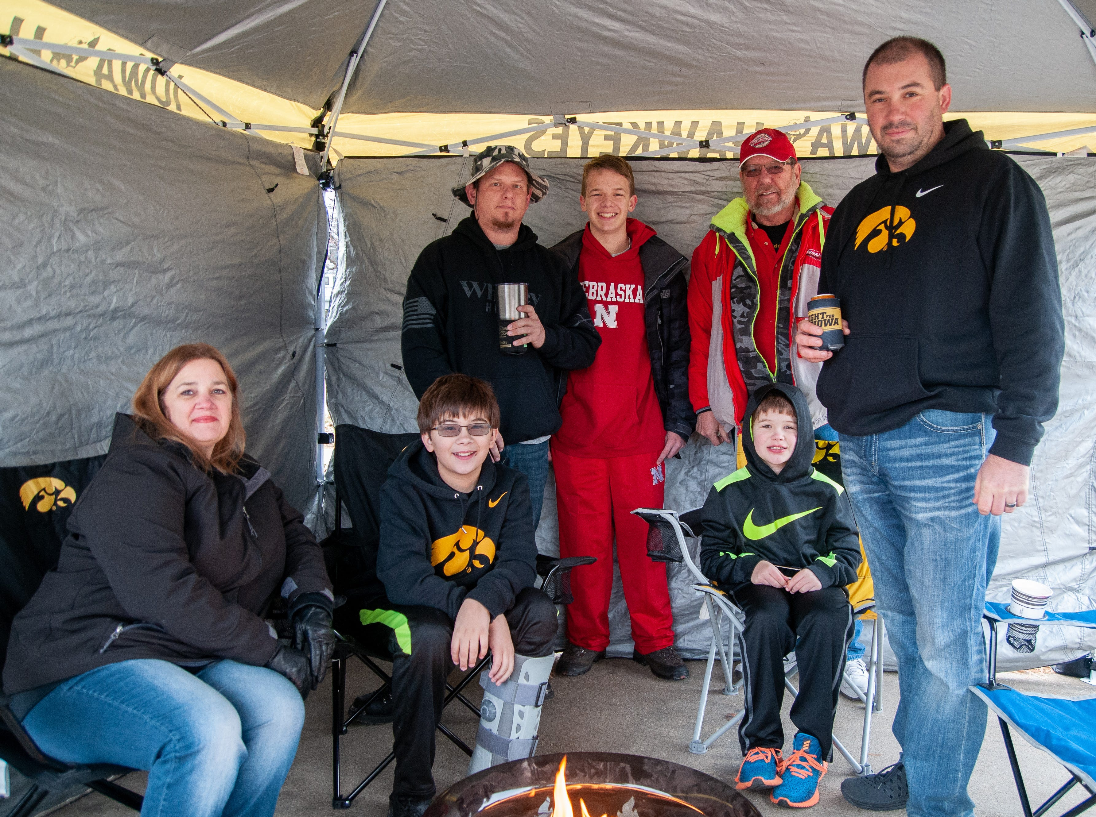 The Odgaard Tailgate, of Des Moines, Friday, Nov. 23, 2018, while tailgating before the Iowa game against Nebraska in Iowa City.