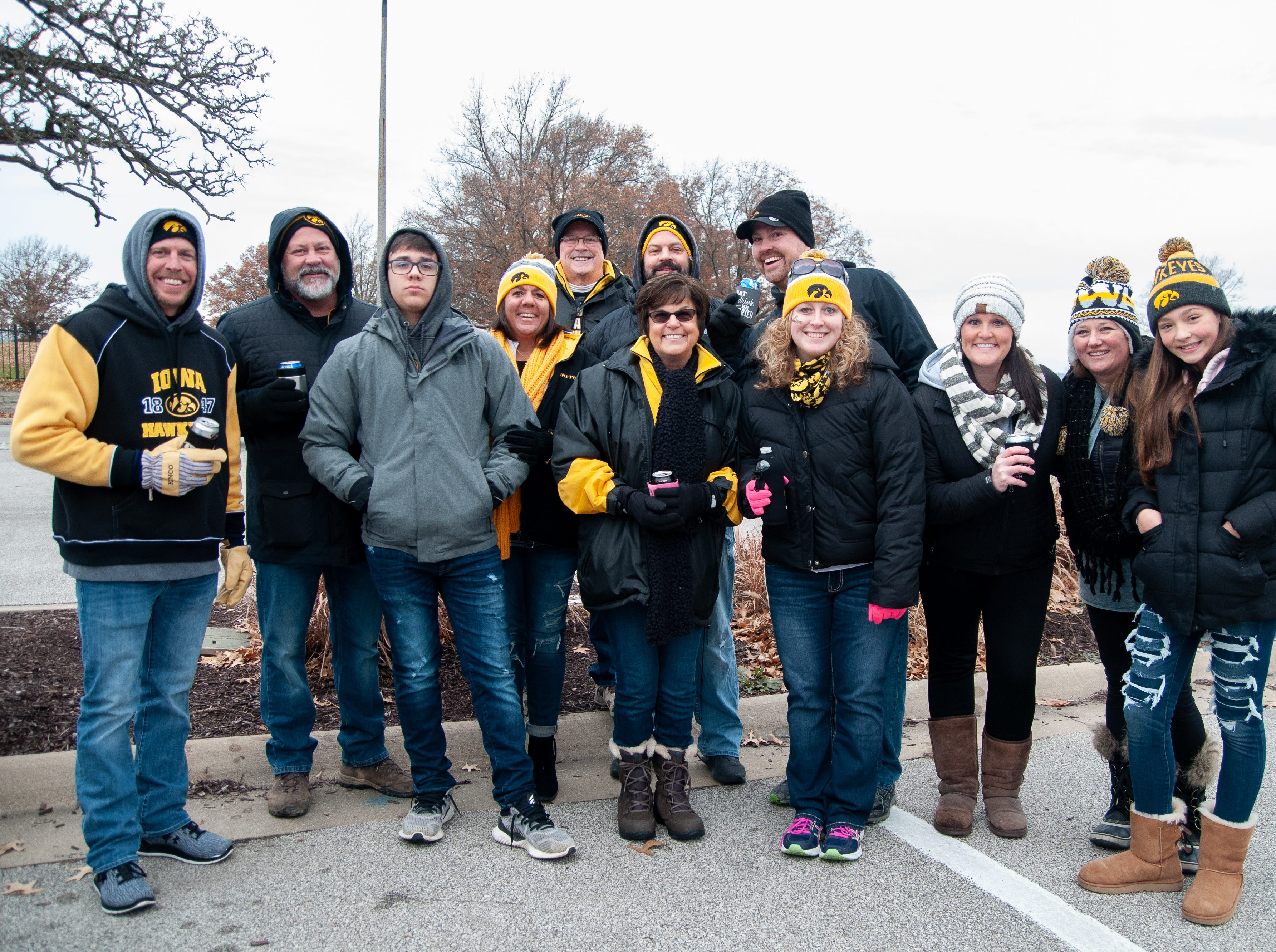 The Obe Tailgate, of Indiana and Iowa, Friday, Nov. 23, 2018, while tailgating before the Iowa game against Nebraska in Iowa City.
