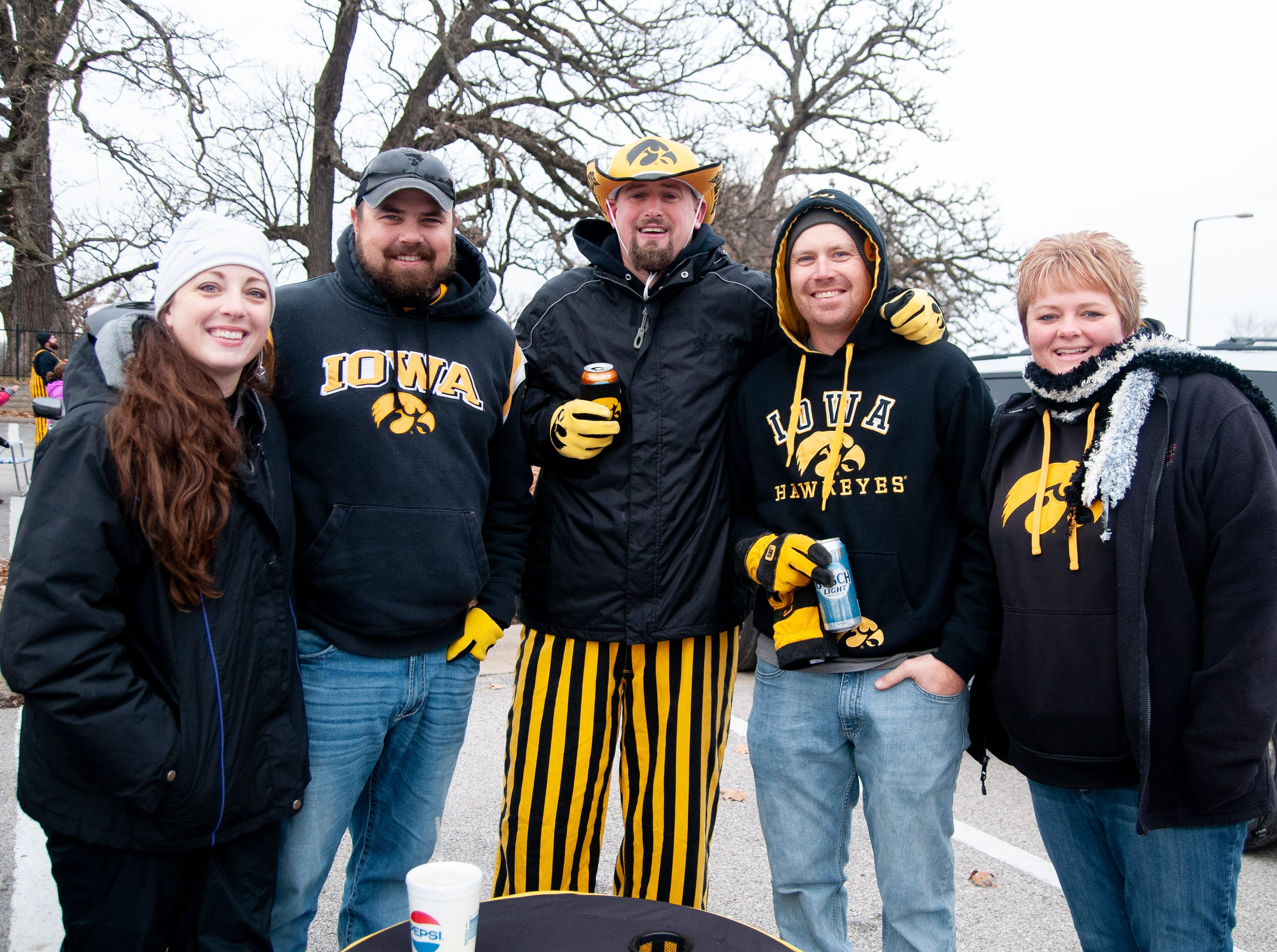 The Fifth Wheel Tailgate, of Anamosa, Friday, Nov. 23, 2018, while tailgating before the Iowa game against Nebraska in Iowa City.