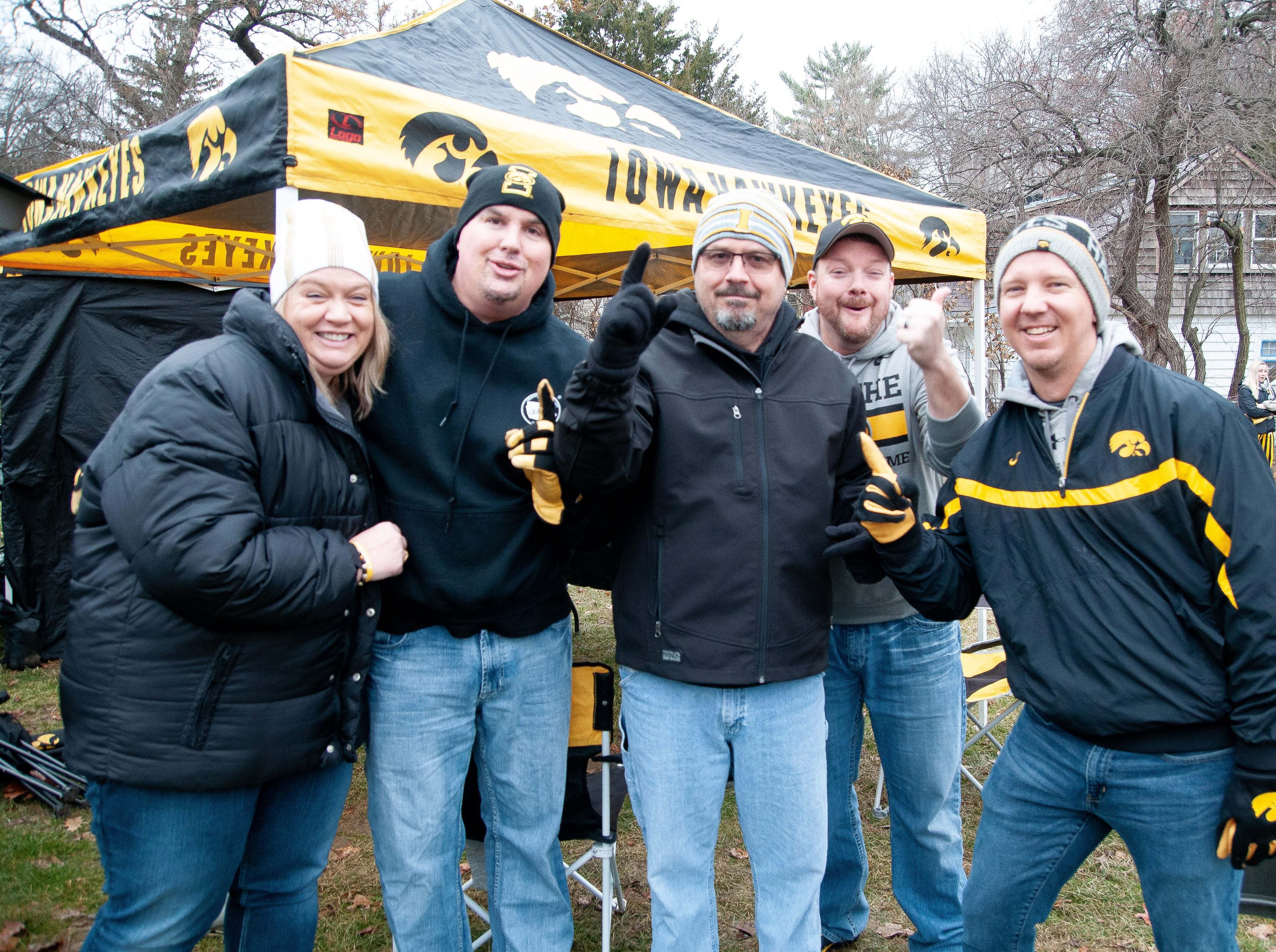 The Wedge Tailgate, of North Liberty and Des Moines, Friday, Nov. 23, 2018, while tailgating before the Iowa game against Nebraska in Iowa City.
