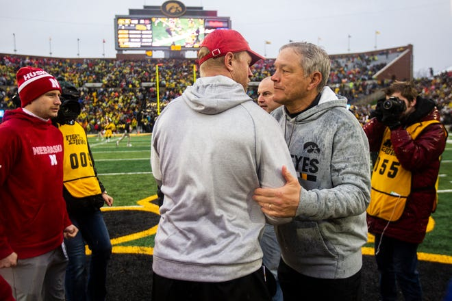Scott Frost vs. Kirk Ferentz, Part 4, will take place on Black Friday again. Iowa has been playing Nebraska on Black Friday since the Cornhuskers joined the Big Ten Conference in 2011.