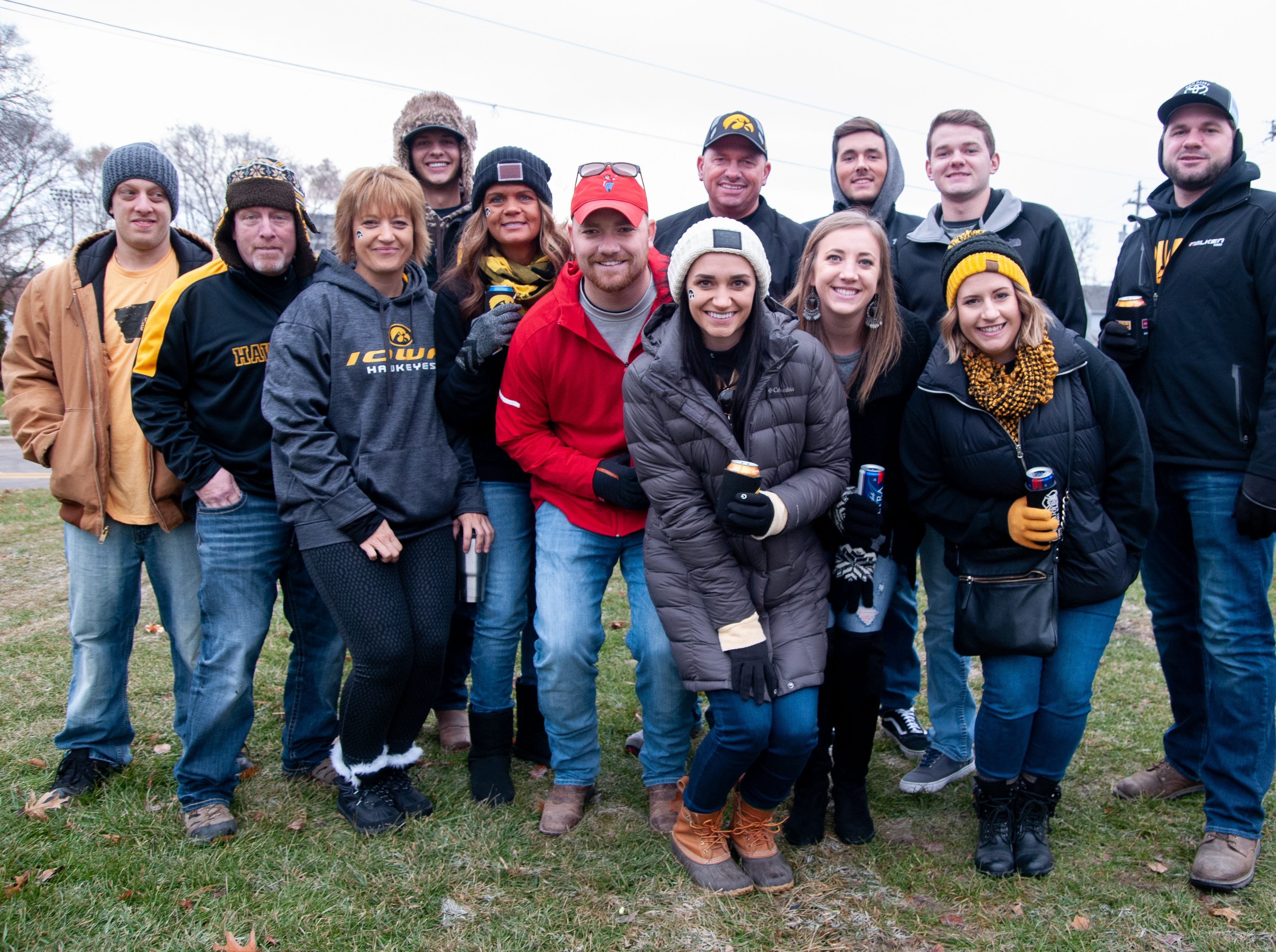 The Elgins Tailgate, of Lincoln, Omaha and Earlville, Friday, Nov. 23, 2018, while tailgating before the Iowa game against Nebraska in Iowa City.