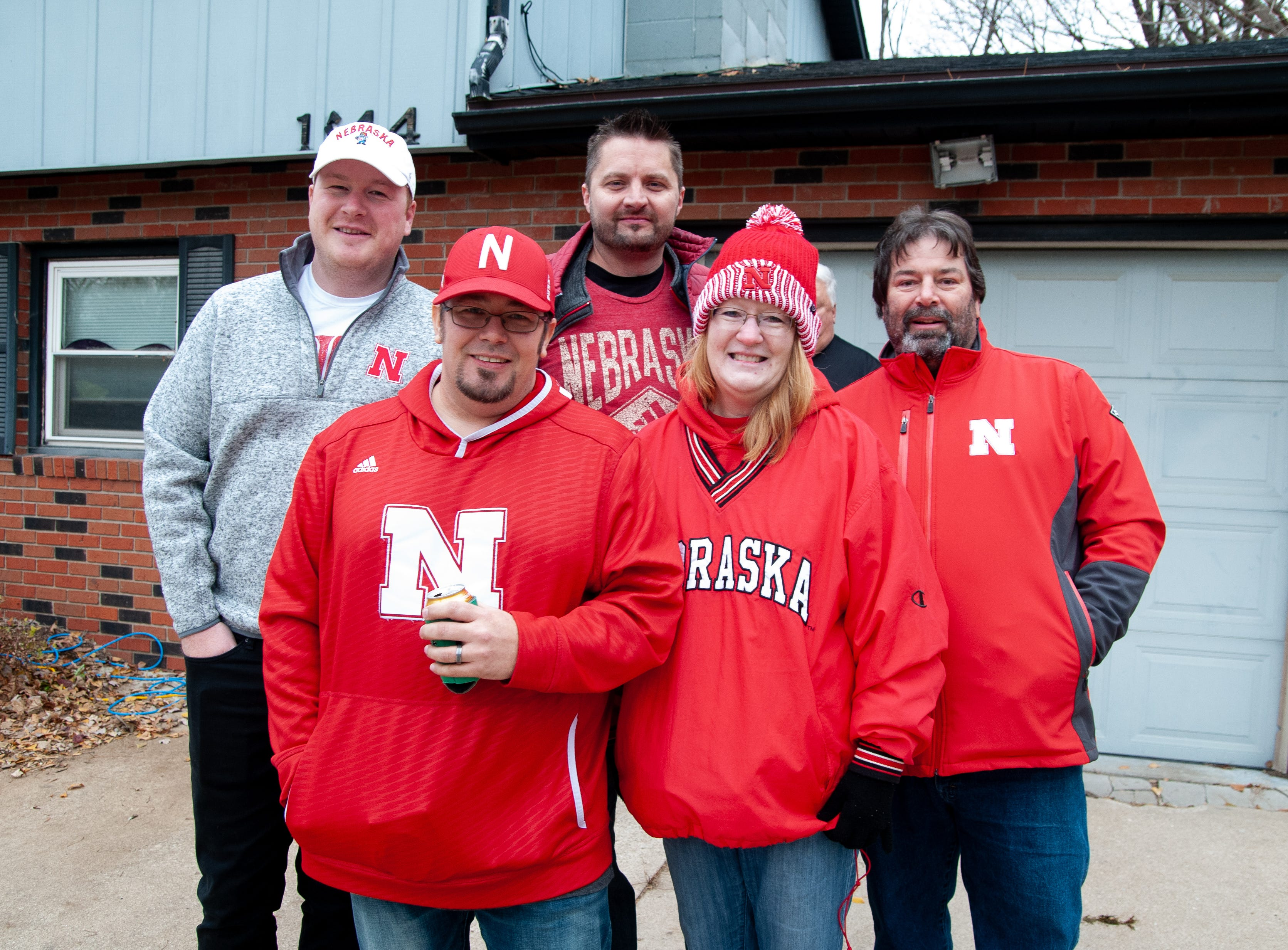 The Blaha family, of Bellevue, Omaha and Dallas, Friday, Nov. 23, 2018, while tailgating before the Iowa game against Nebraska in Iowa City.