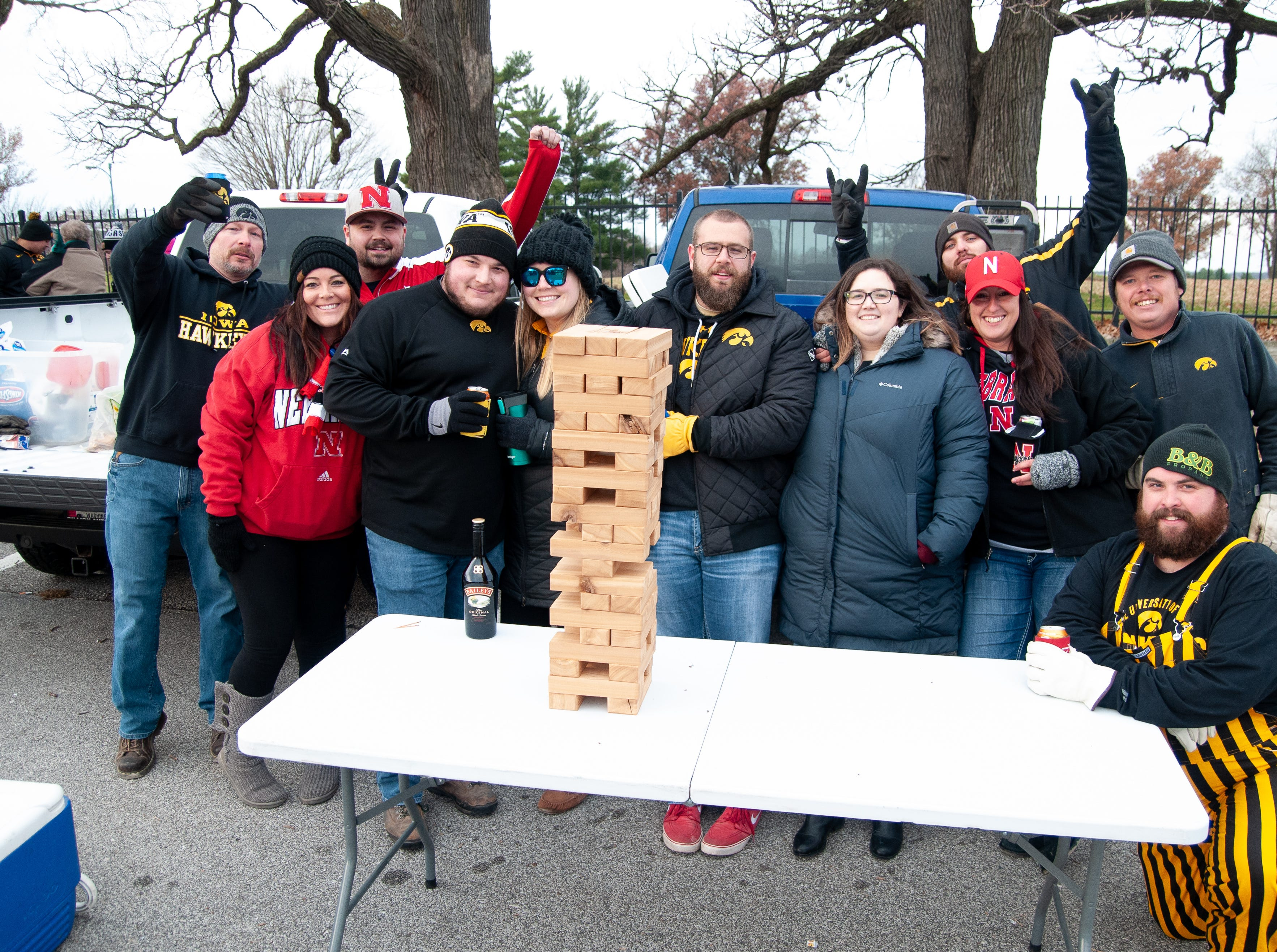 The Eldon River Barbecue Tailgate, of Eldon, Friday, Nov. 23, 2018, while tailgating before the Iowa game against Nebraska in Iowa City.