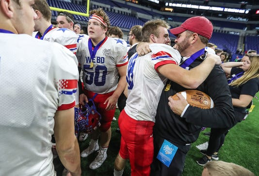 Western Boone Stars Versus Eastbrook Panthers In Ihsaa Class 2a Football State Finals At Lucas Oil Stadium In Indianapolis Nov 23 2018