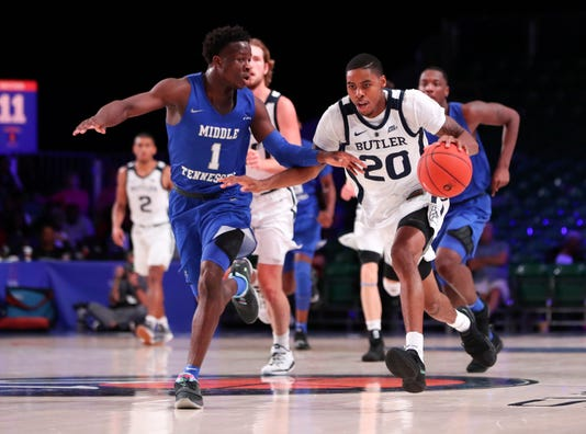 Ncaa Basketball Battle 4 Atlantis Butler Vs Middle Tennessee State