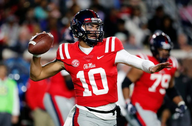 Ole Miss senior quarterback Jordan Ta'amu and nine other seniors from Mississippi four-year colleges will be honored Monday night during the Jackson Touchdown Club's 73rd annual Most Valuable Senior college awards presentation at the River Hills Club.