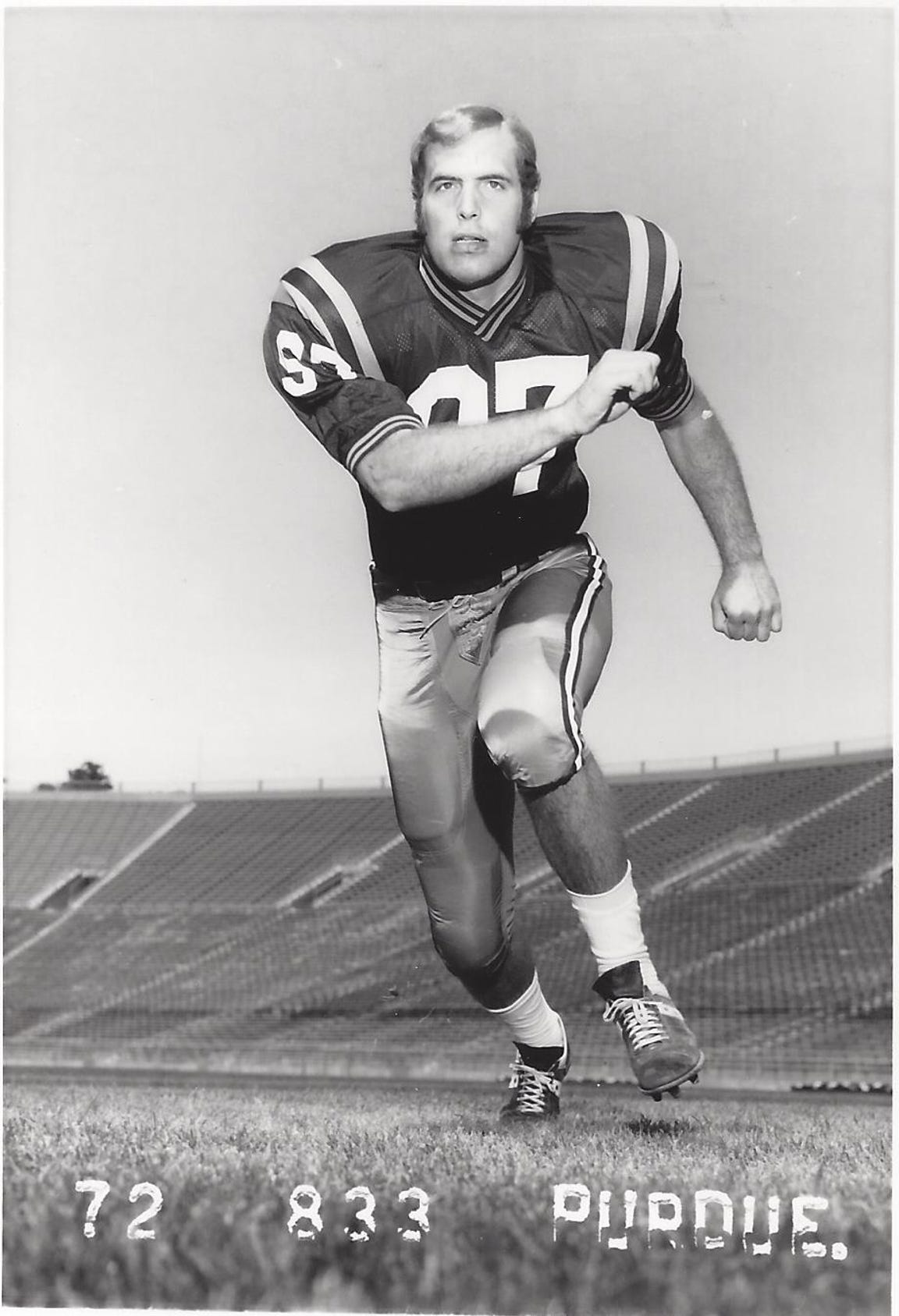 Steve Baumgartner was one of five Purdue football players taken in the first two rounds of the 1973 NFL Draft.
