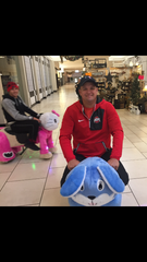 Josh Blakeman, of Circleville, and others find a unique way to get around the River Valley Mall on Black Friday.