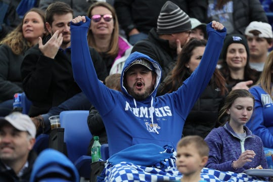 Fans watch as the Memphis Tigers take on the Houston Cougars at the Liberty Bowl on Nov. 23. Season tickets for 2019 are on sale now.