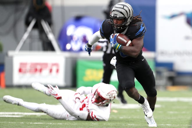 Memphis' Darrell Henderson set the AAC's single-season rushing record this year, and was named an all-conference first-team selection.