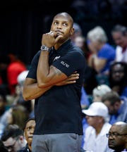 Memphis head coach Penny Hardaway looks on during action against Canisius at the Advocate Invitational in Orlando Friday, November 23, 2018.