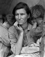 """Migrant Mother"" by Dorothea Lange, which epitomized the Great Depression."