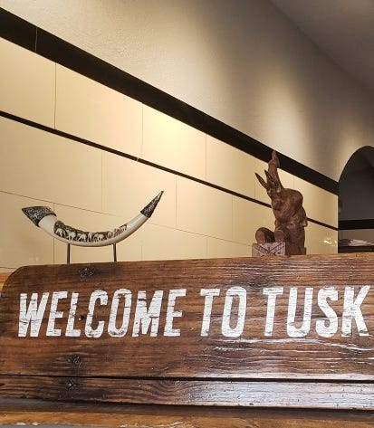 The theme reflects owner Christine McRoberts' love for elephants at Tusk, 5513 W. North Ave.