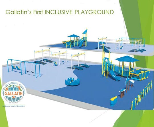 This rendering shows what Gallatin's Miracle Park all-inclusive playground could look like.