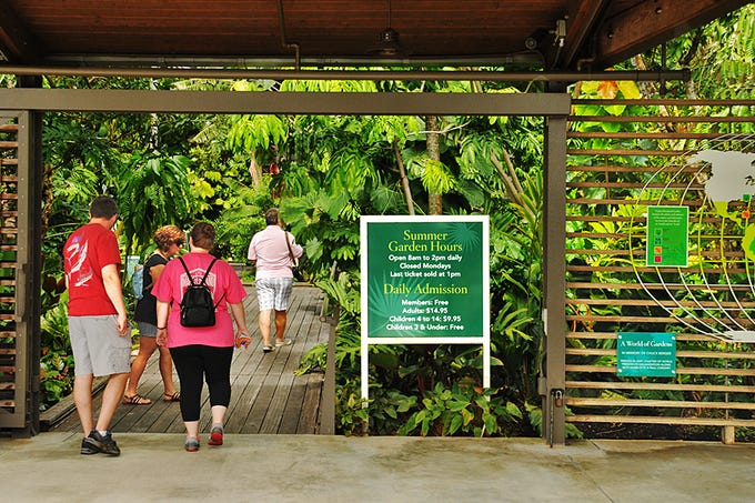 Naples Botanical Garden is located at the corner of Bayshore Drive and Thomasson Drive, 4820 Bayshore Drive in Naples, Florida. The gardens are typically open Tuesday through Sunday.