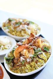 The shrimp biryani at the Bay Leaf restaurant in South Orange,