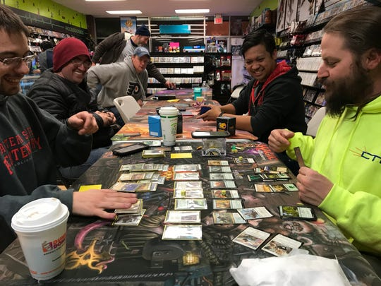 Magic: The Gathering Players at Level 1 Games in Pequannock, N.J.