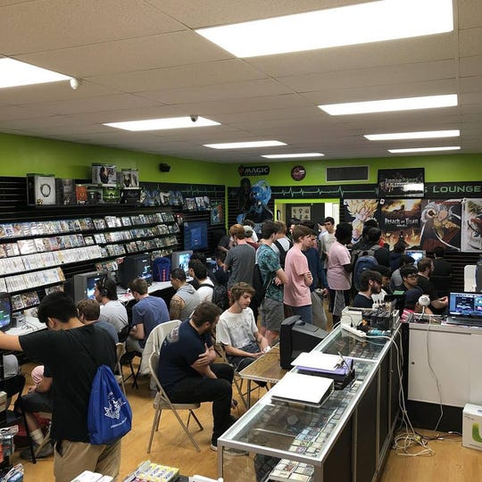 A Super Smash Bros. Melee tournament at Level 1 Games in Pequannock, N.J.