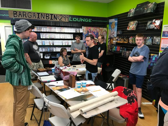 Dungeons & Dragons players at Level 1 Games in Pequannock, N.J.