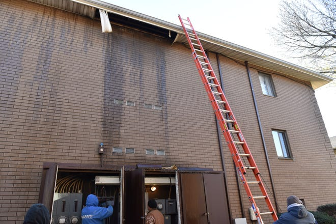 A fire broke out on Thanksgiving night at an condominium complex on Liberty St in Little Ferry on Friday morning November 23, 2018. 24 units were forced to evacuated since the utilities were cut from the building.