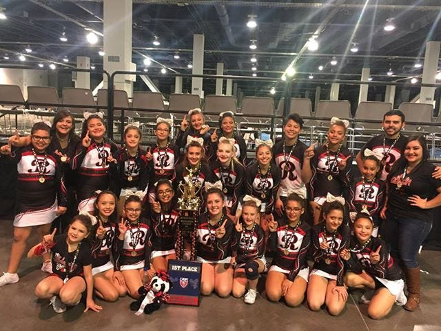The Las Cruces Riderettes Cheer team won first place in the 14U division and won the Overall 2018 Desert Pacific Regional Grand Champion competing against 15 other teams in Las Vegas, Nevada, on Nov. 19.