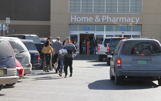 A steady flow of Alamogordo Wal-Mart shoppers could be seen coming and going during the store's Black Friday.