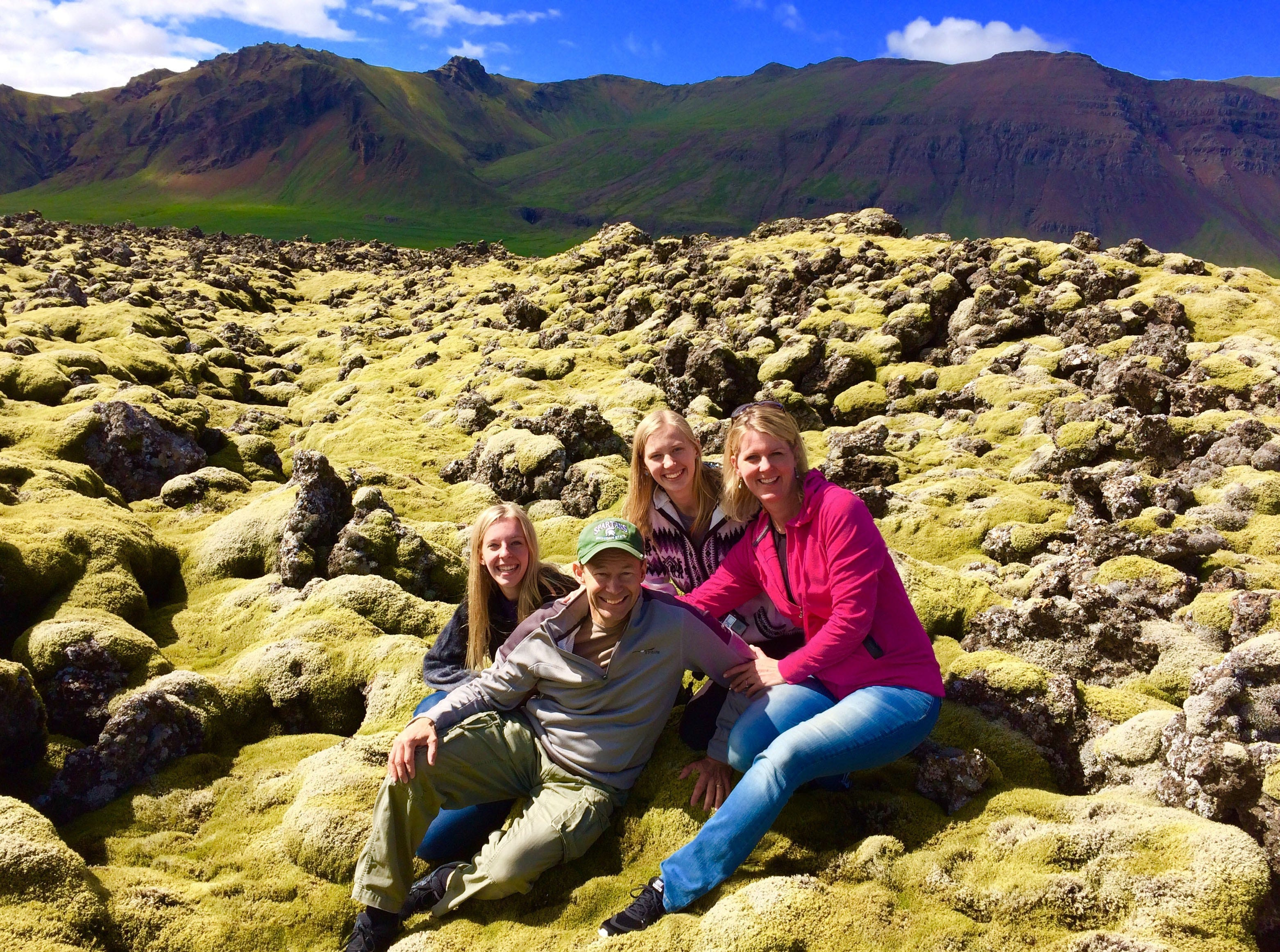 Ed McKenna (front), pictured during a family trip to Iceland, recently traveled solo to see the Northern Lights in northern Finland. Now, he wants the rest of his family to accompany him for the sequel. Also pictured with Ed are (from left) daughters Melanie, Jillian and wife Alison.